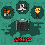 Design flat concept icons Stock Images