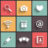 Design Flat icons for Web Stock Photography