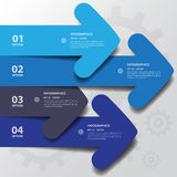 Design flat shadow arrow banners /graphic or website Royalty Free Stock Image