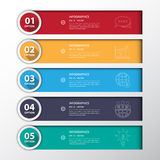 Design flat shadow step number banners /graphic or website.vecto Royalty Free Stock Photography