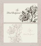 Design with floral backgrounds Royalty Free Stock Photography