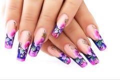 Design floral em pregos Imagem de Stock Royalty Free