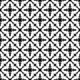 Design floral geomatrical abstrato preto e branco do vetor, teste padrão sem emenda ou projeto ilustração do vetor