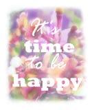 Design floral obscuro com slogan positivo Contexto abstrato cor-de-rosa Fotos de Stock