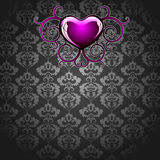 Design floral with purple heart Stock Image