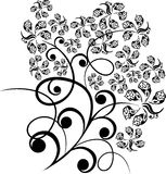 Design floral tattoo Royalty Free Stock Image