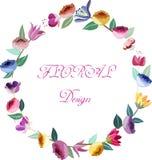 Design floral wreath Stock Photos