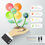 Design flower of Business concept infographic template, Royalty Free Stock Images