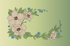 Design of flowers. Vector illustration. Royalty Free Stock Photography