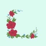 Design of flowers. Vector illustration. Stock Image