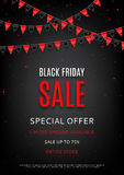 Design of the flyer of Black Friday sale Royalty Free Stock Photography