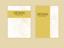 Design flyer brochure design. samples vector of flyers, invitati. Ons, brochures, covers Royalty Free Stock Photography