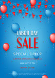 Design of the flyer of Labor Day sale Stock Photos