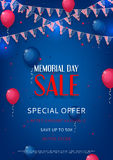 Design of the flyer of Memorial Day sale Royalty Free Stock Images