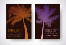 Design a flyer for a summer party. Poster template with orange a royalty free illustration