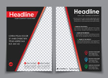 Design flyers A4 black with red elements. vector illustration