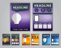 Design flyers, brochures Stock Photography