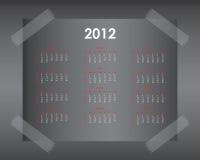 design för 2012 kalender Royaltyfria Bilder