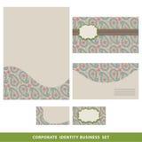 Design för affär för företags identitet fastställd Orientalisk paisley modell Royaltyfri Fotografi