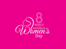 Design för bakgrund för rosa färgfärg idérik för kvinnors dag Royaltyfri Foto