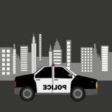 Design för bakgrund för stad för polisbil Royaltyfri Bild