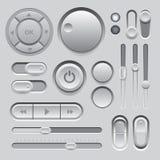 Design för beståndsdelar för grå färgrengöringsduk UI. Arkivfoto
