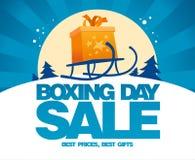 Design för försäljning för boxningdag med släden Royaltyfria Foton