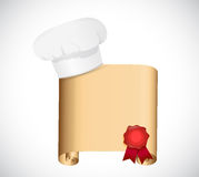 Design för kockreceptillustration Fotografering för Bildbyråer