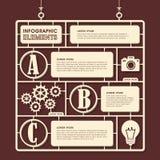Design för leksakmodellinfographics Arkivfoto