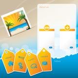 Design för sommarwebsitemall med stranden Royaltyfri Fotografi