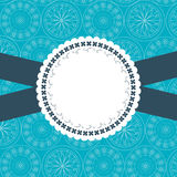 Design frame for greeting card. Blue and white Stock Image