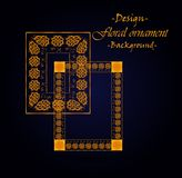 The design of the framework on the basis of floral ornament. Vector illustration Royalty Free Stock Photos