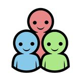 Design of friends icon. Creative design of friends icon Royalty Free Stock Photo
