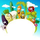 Design with funny vegetable cartoon - vector illustration Stock Images