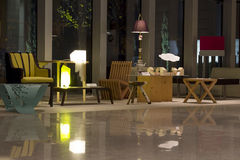Design gallery. Furniture with modern design in bucharest, romania Stock Photos