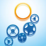 Design with gears. Royalty Free Stock Photography
