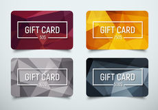 Design a gift card with a frame for text and denomination. Stock Photo