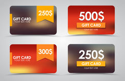 Design gift cards Stock Images
