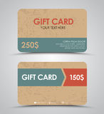 Design gift cards Stock Photo