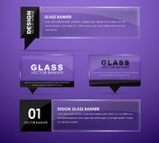 Design glass banners with text Stock Photos