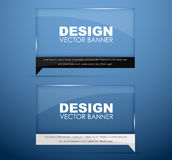 Design glass banners with text Royalty Free Stock Photography