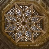 Design of glass dome in Santa Maria Cathedral in Burgos, Spain. Europe royalty free stock images