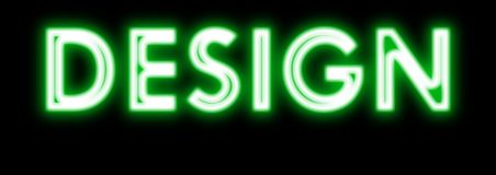 Design glowing neon sign in green Royalty Free Stock Image
