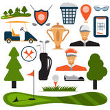 Design Golf Icon Set Vector Stock Image