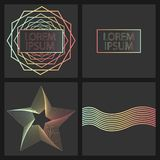 Design with a gradient on a dark background for banners, business cards, etc. vector illustration