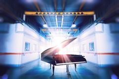 Piano music concept background Royalty Free Stock Images