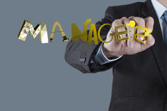 Design graphic word MANAGER as concept Royalty Free Stock Photos