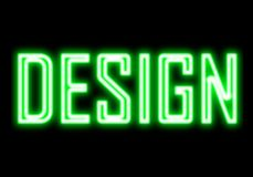 Design green light glow neon sign Royalty Free Stock Photos