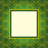 Design green ornament cover Stock Photos