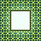 Design green pattern frame Royalty Free Stock Image